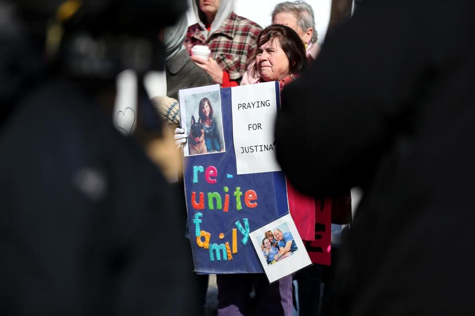 Julie Miller was at the vigil for Justina Pelletier, 15, at a care center in Framingham. The state took custody in a fight over the teen's medical care.